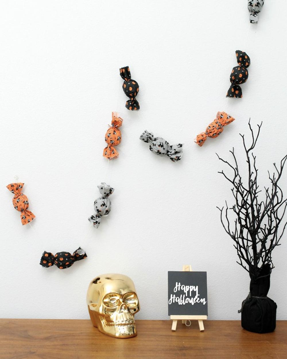 guirlande tissu diy halloween