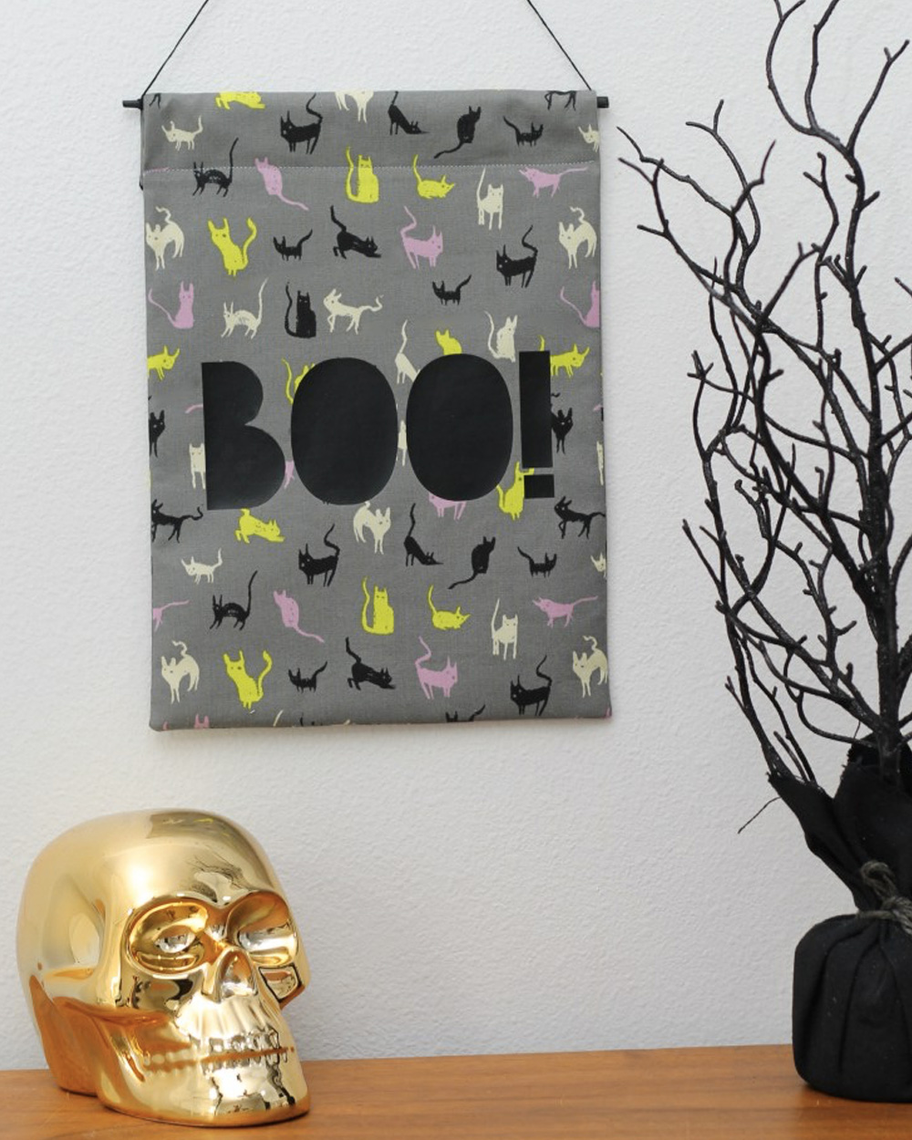 idee deco halloween banniere