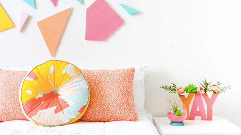 tete de lit colorée diy