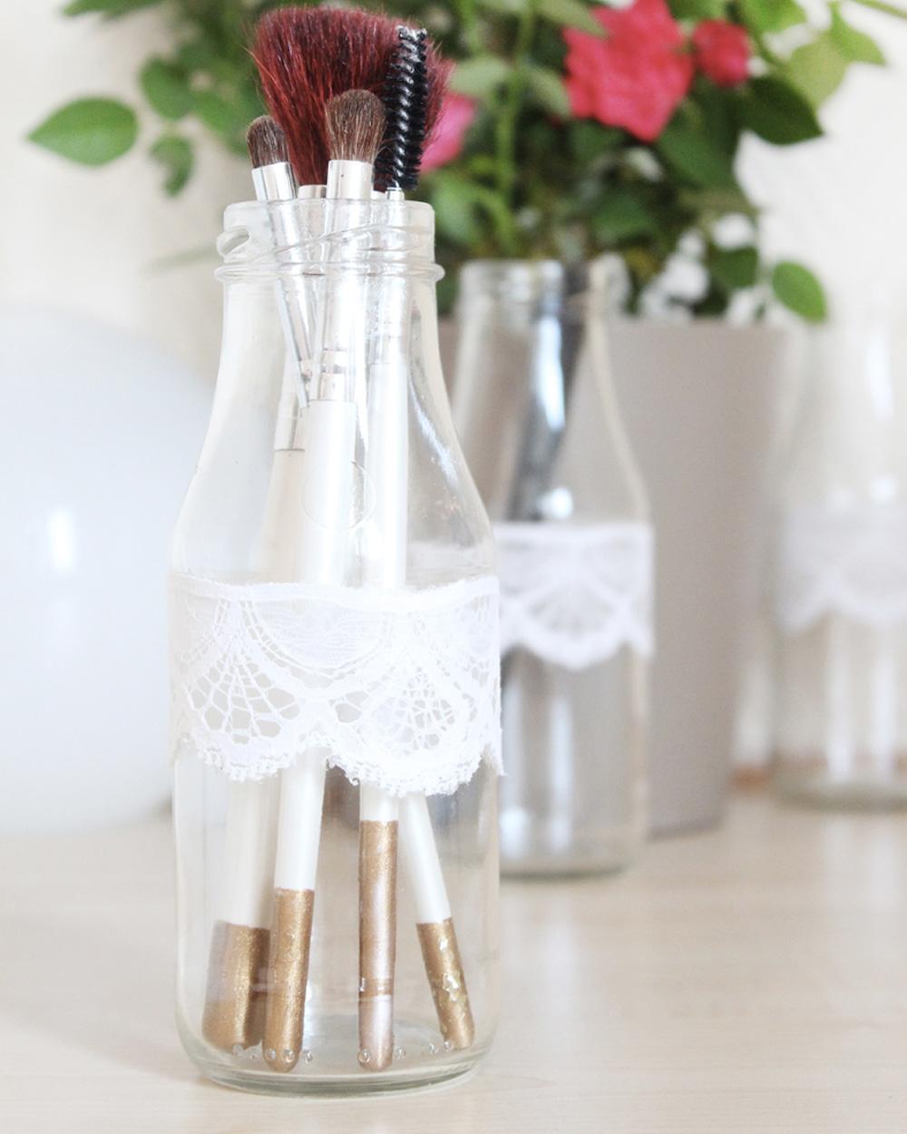 Comment Peindre De La Dentelle une bouteille en dentelle | shake my blog