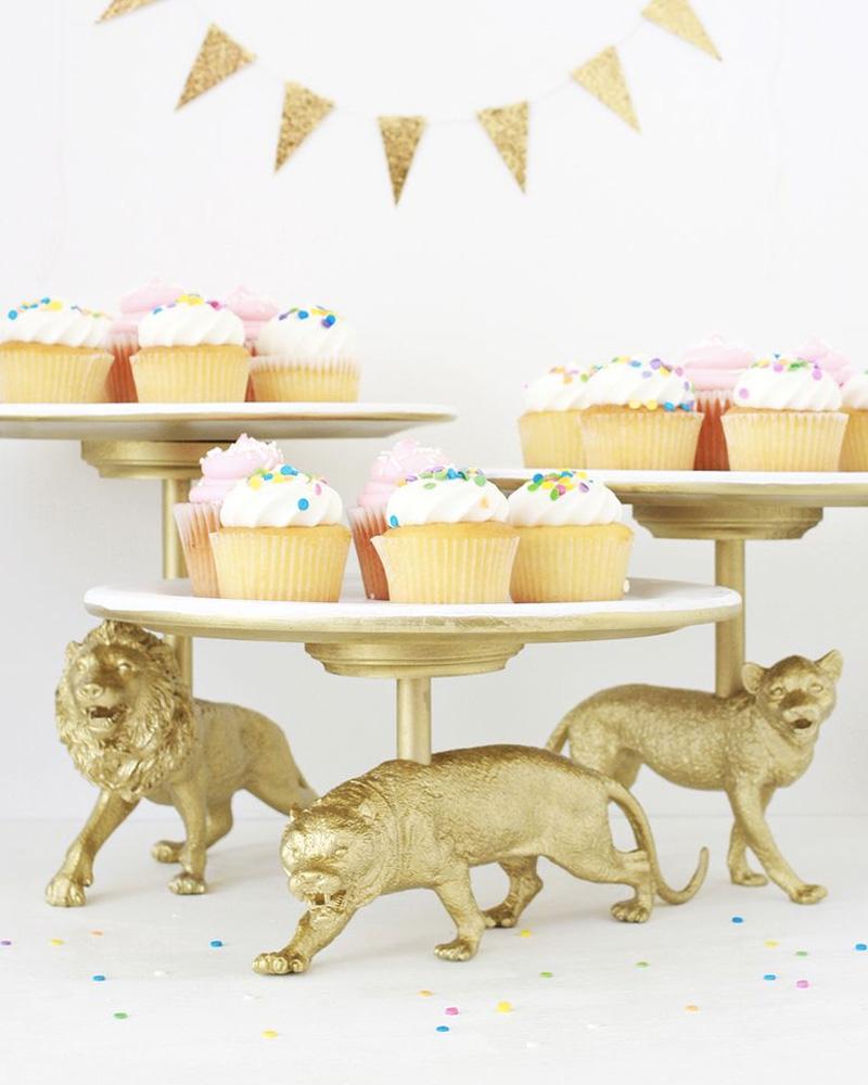 cakestand diy animal plastique