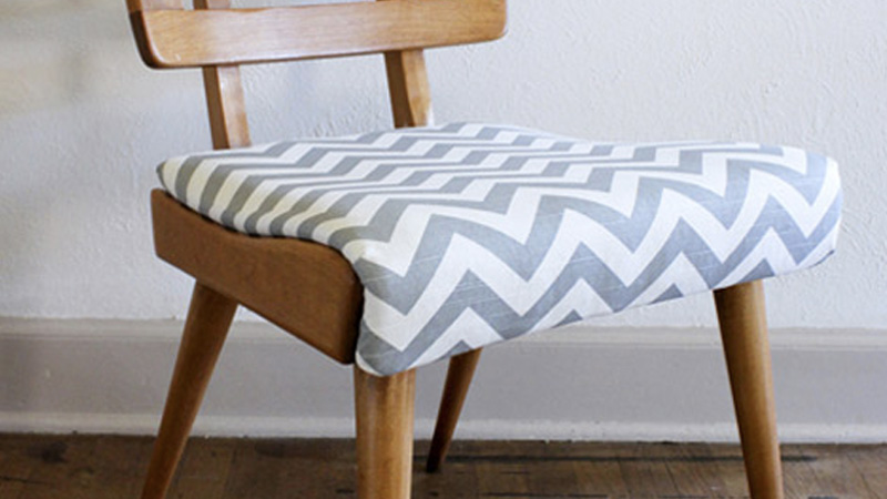 chaise chevrons diy