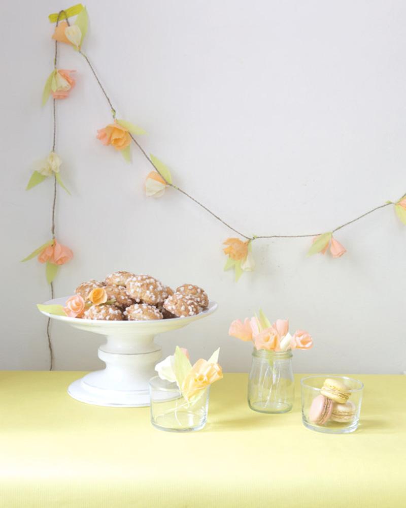 guirlande fleurs diy papier crépon