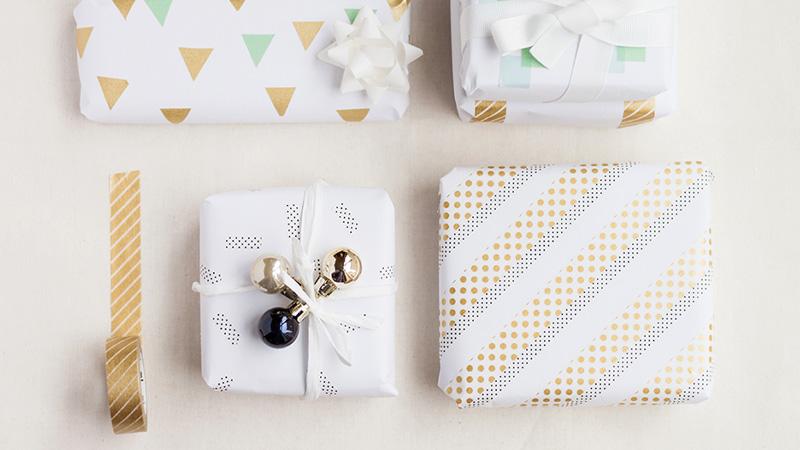 paquet cadeau noel masking tape diy