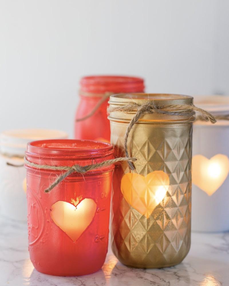photophore coeur diy saint valentin