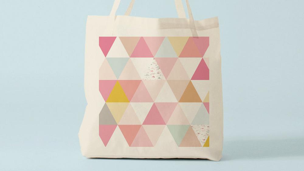 tote bag géométrique diy