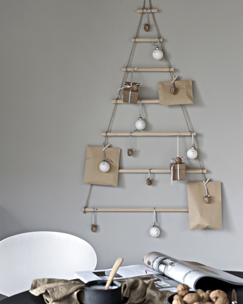 calendrier avent sapin diy