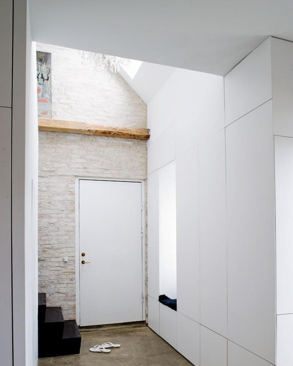 entrée maison contemporaine minimaliste
