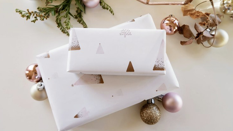 papier cadeau a imprimer diy noel