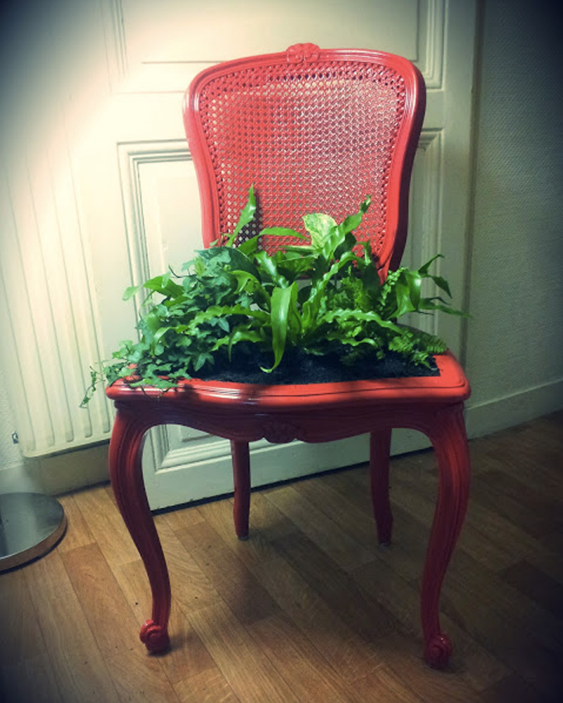 chaise vegetale diy