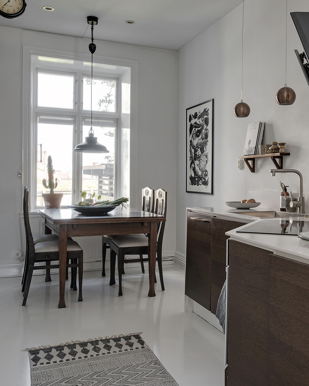 cuisine en bois et blanc scandinave
