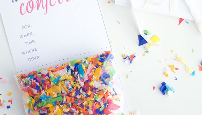invitation carte anniversaire diy