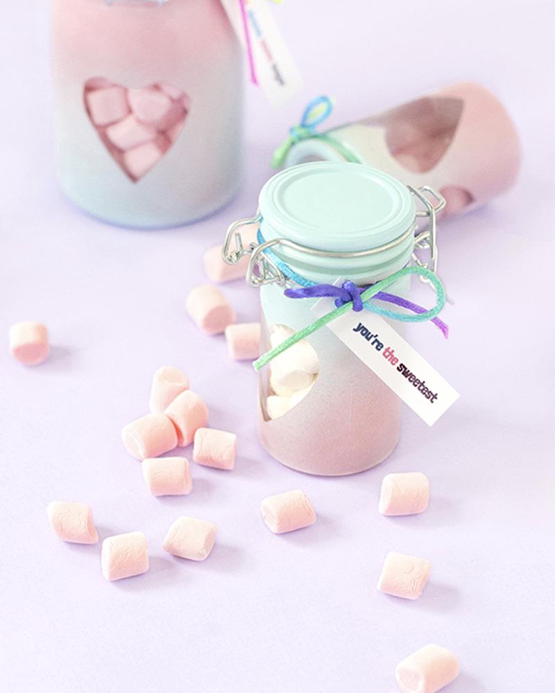 cadeau diy saint valentin bocal bonbon