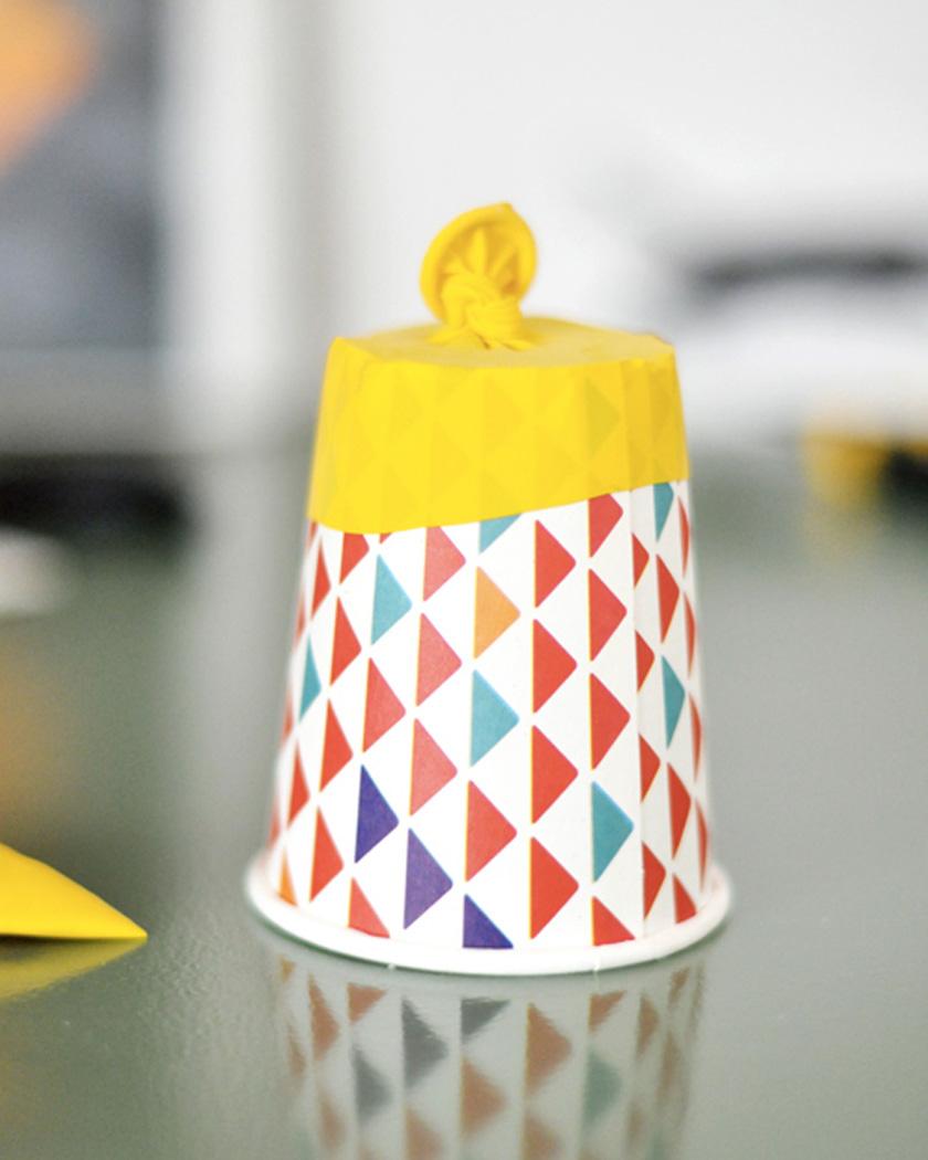 canon confettis diy gobelet carton