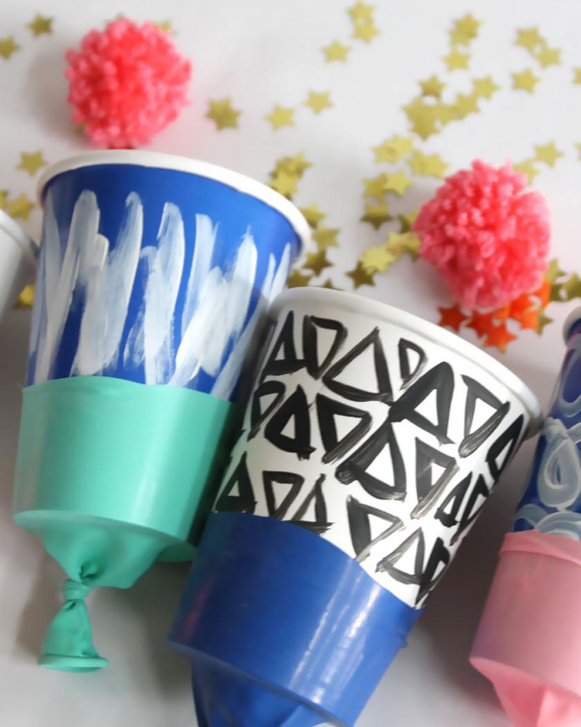 canon confettis diy gobelet carton peint