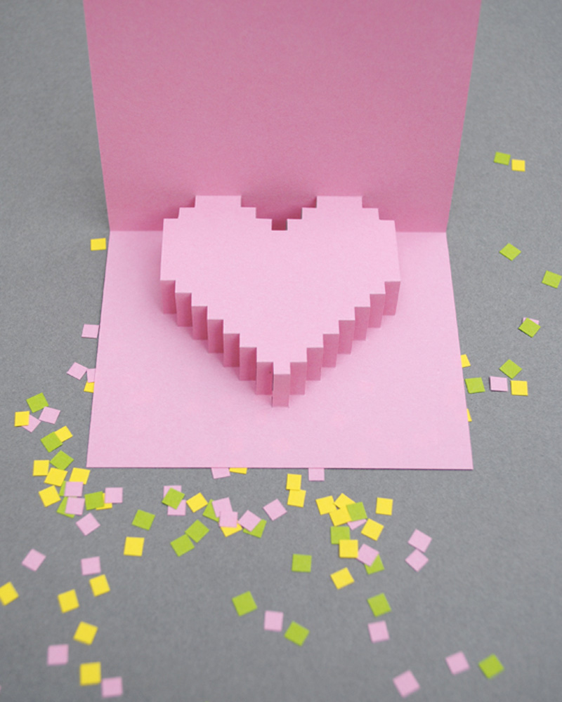 carte pop up diy saint valentin