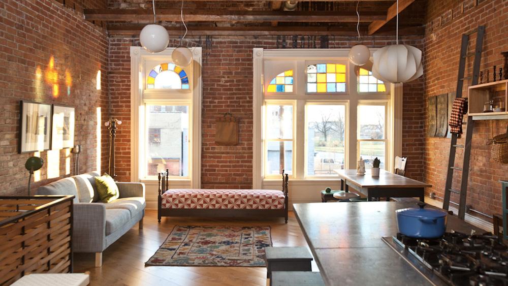 deco appartement vintage briques