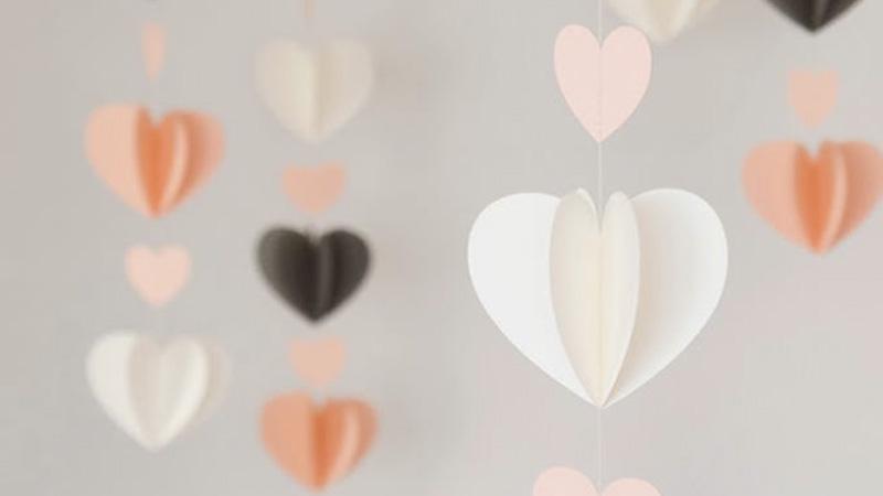 guirlande coeur mariage diy
