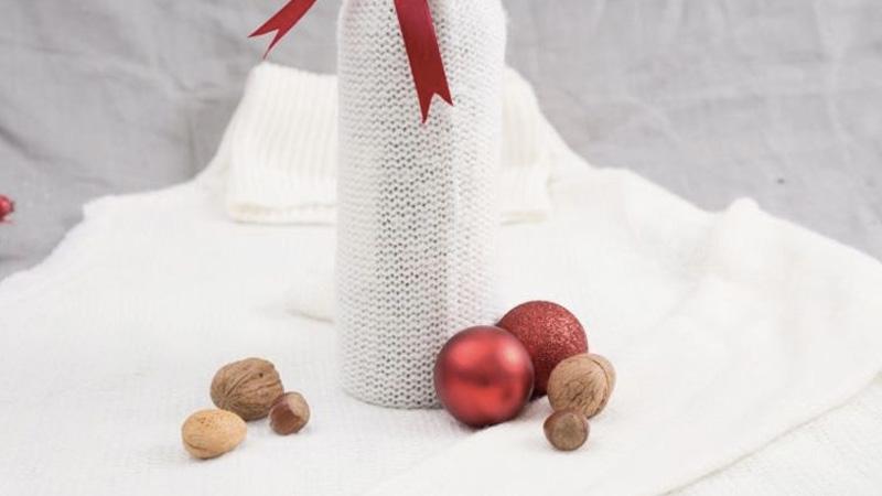paquet cadeau laine diy noel