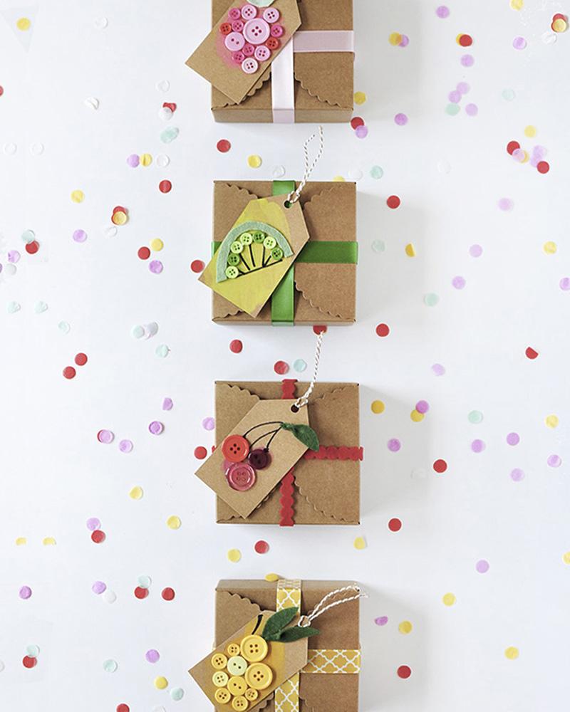 paquet cadeau bouton diy noel