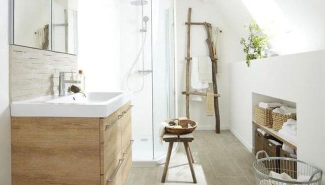 déco salle de bain scandinave bois chic nature