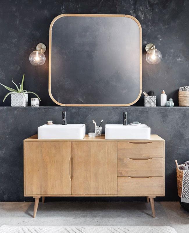 déco salle de bain scandinave bois chic enfilade