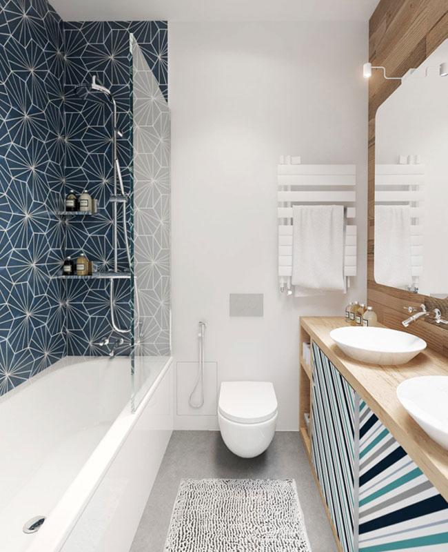 déco salle de bain scandinave faience vintage