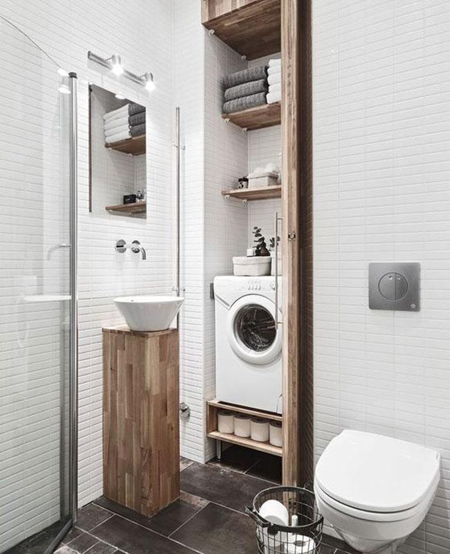 déco salle de bain scandinave petite placard