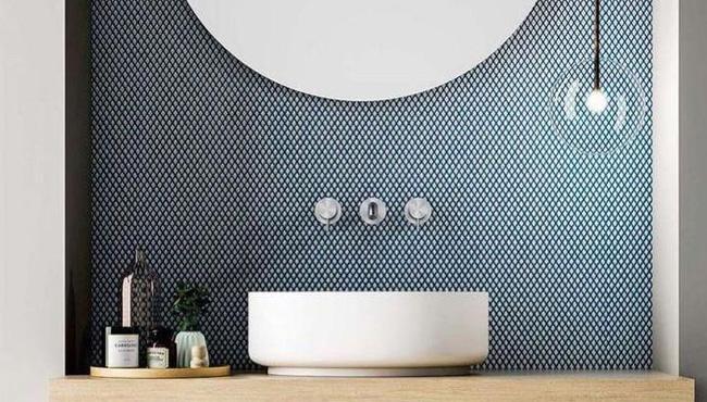 déco salle de bain scandinave bleu moderne