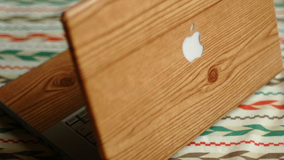 ordinateur portable bois diy