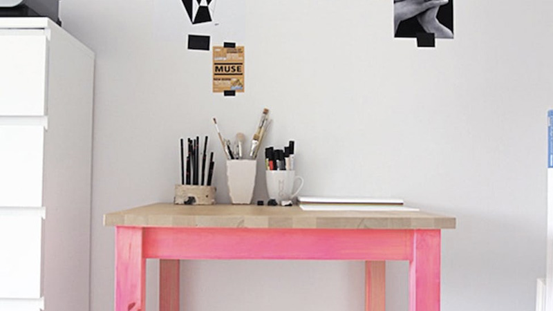table pied fluo diy