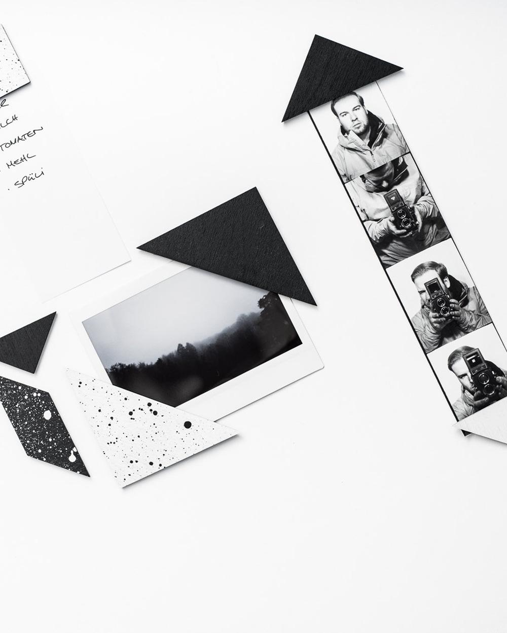 aimants graphiques noir blanc