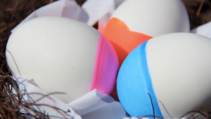 oeuf paques fluo diy