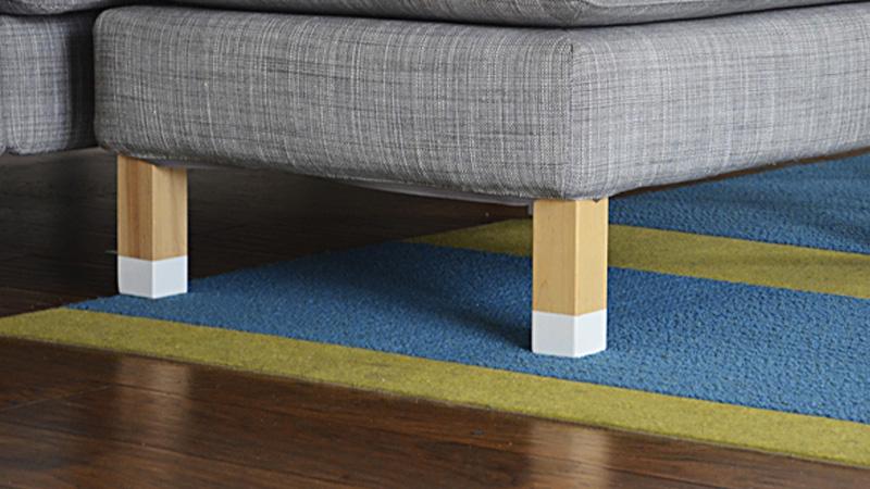 customiser pieds canapé diy