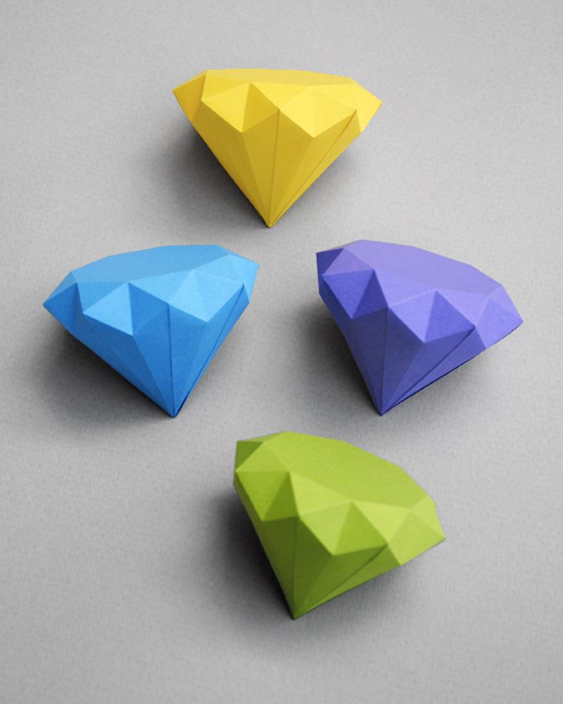 diamant papier diy mobile enfant