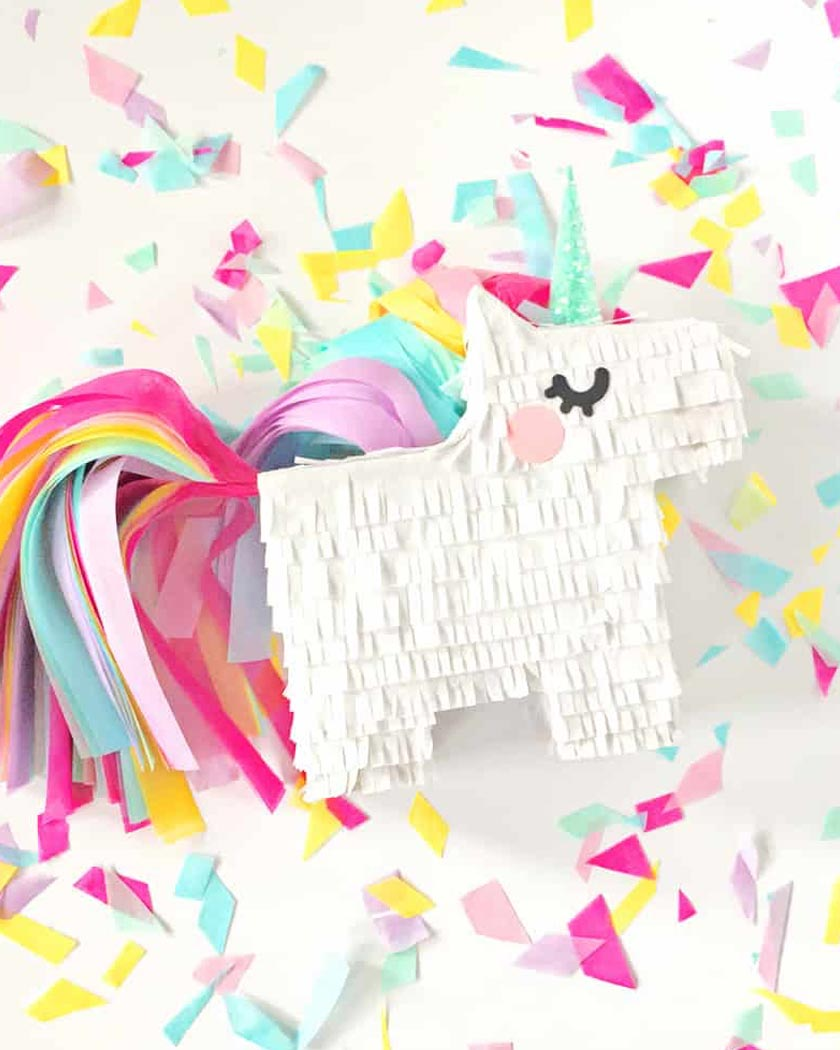 mini pinata diy licorne