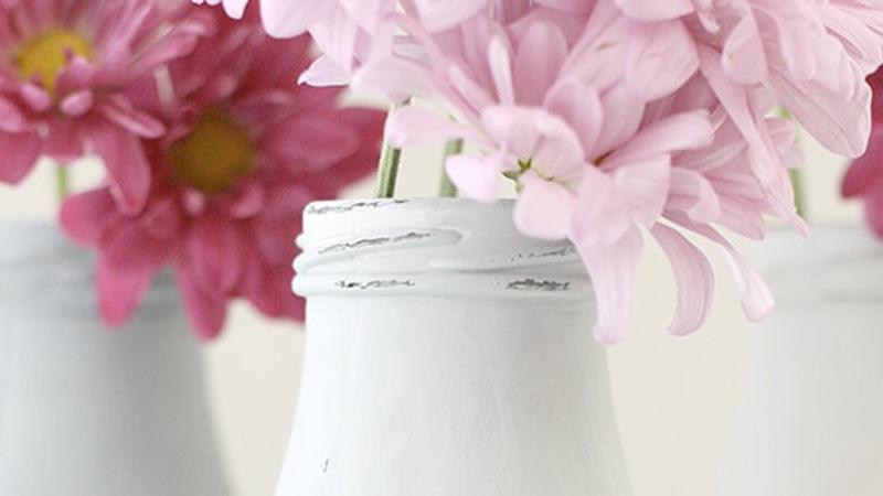 vase bouteille diy