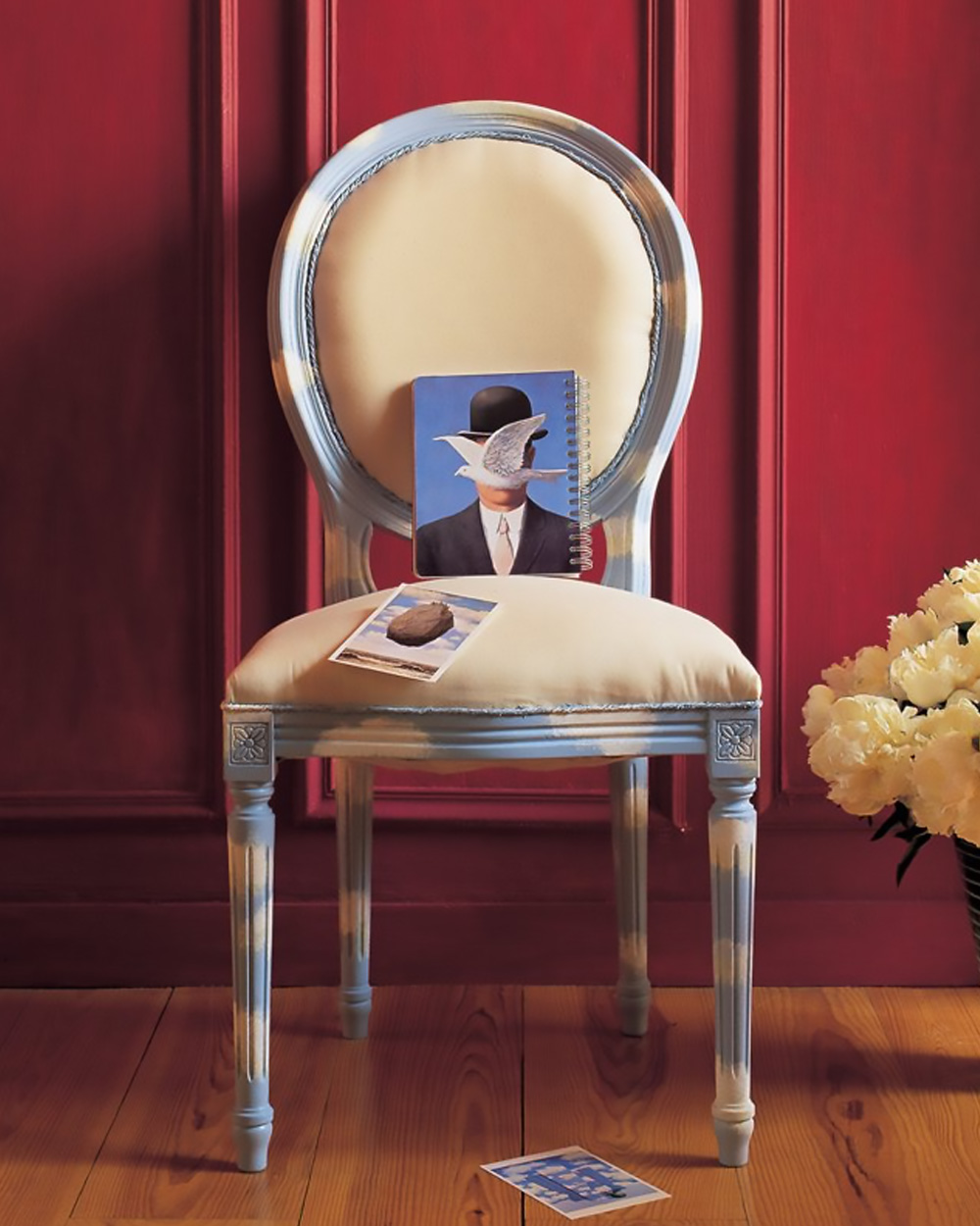 chaise motif nuage diy