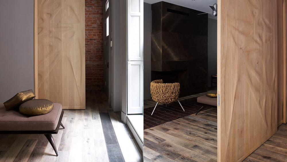 salon dans maison contemporaine et minimaliste