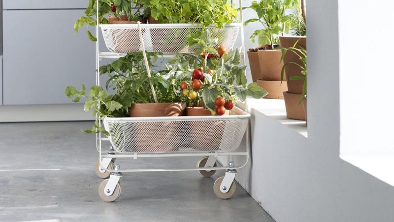 Une Jardiniere Diy Dans Un Chariot Ikea Shake My Blog