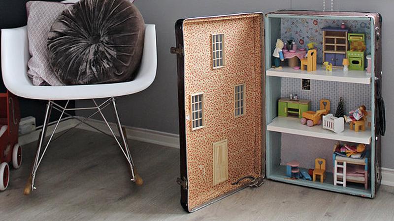 maison poupée diy valise