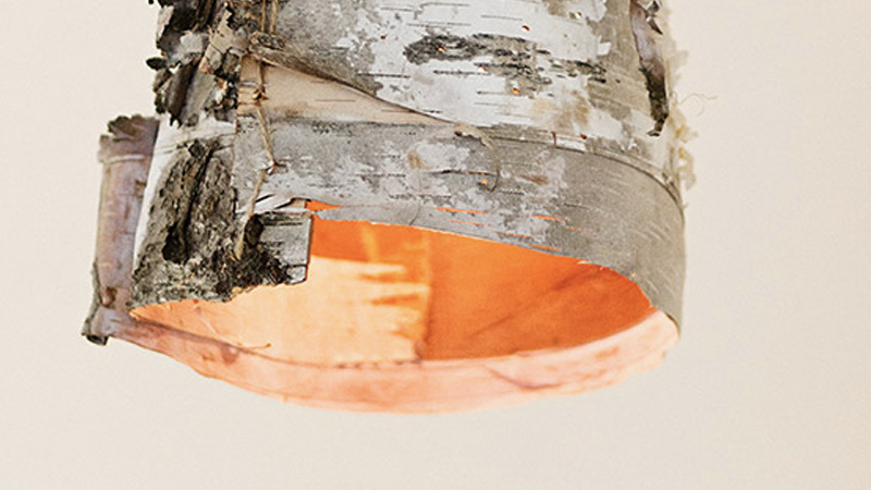 suspension bois diy