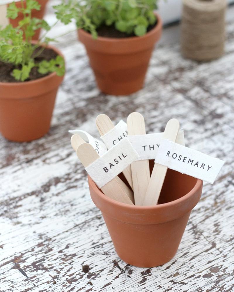 etiquette plante diy