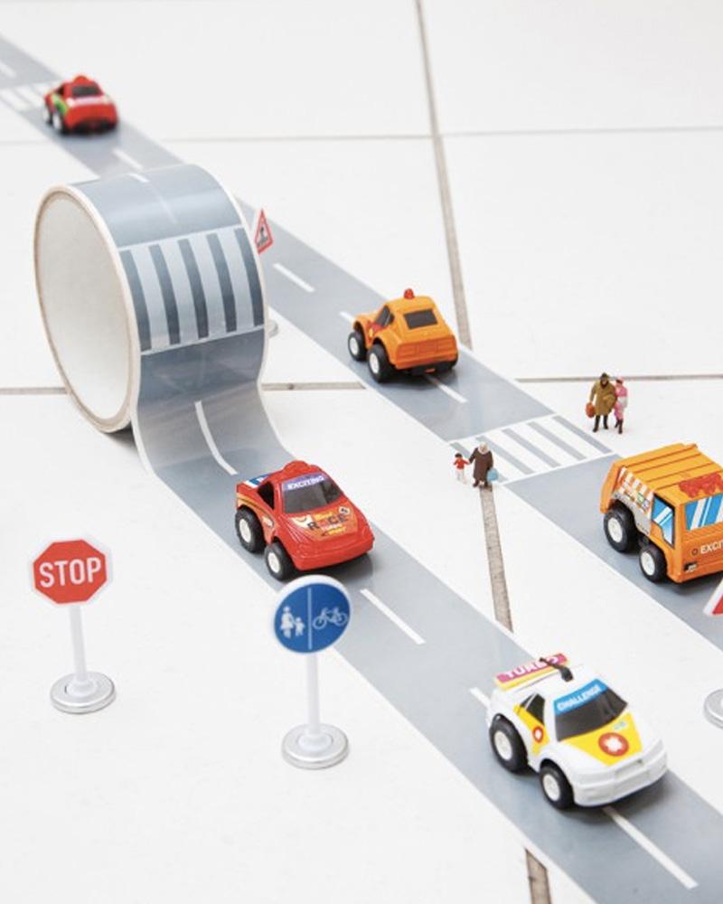circuit voiture adhésif diy