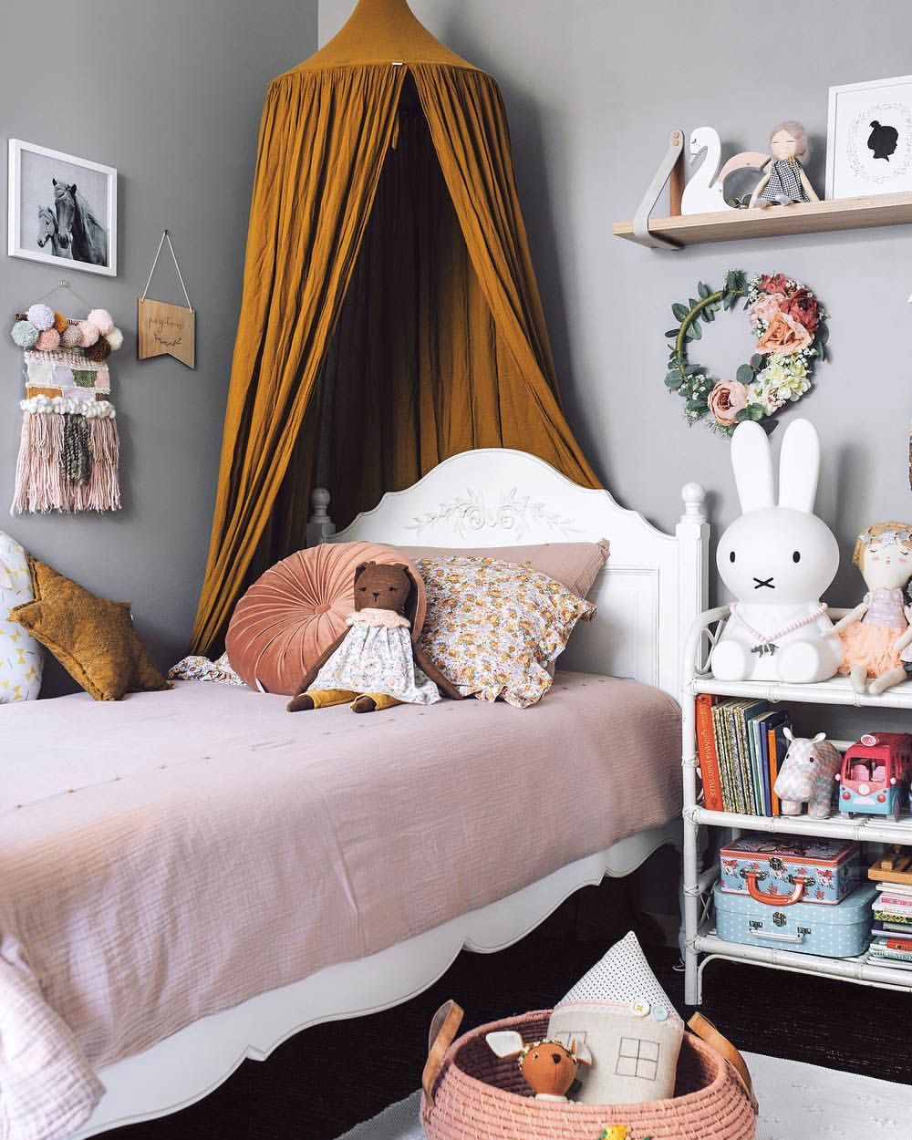 deco chambre fille orange