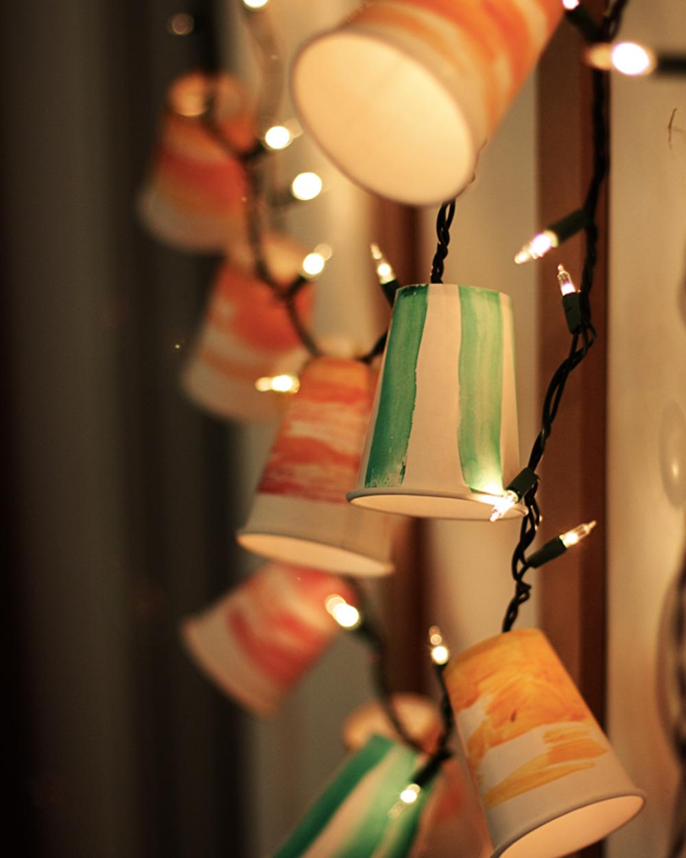 guirlande lumineuse diy gobelet carton