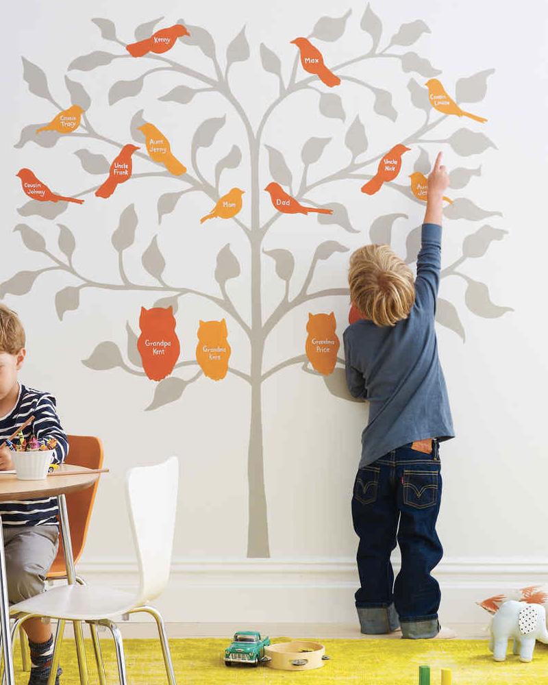 arbre généalogique enfant diy