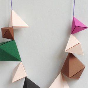 collier origami diy