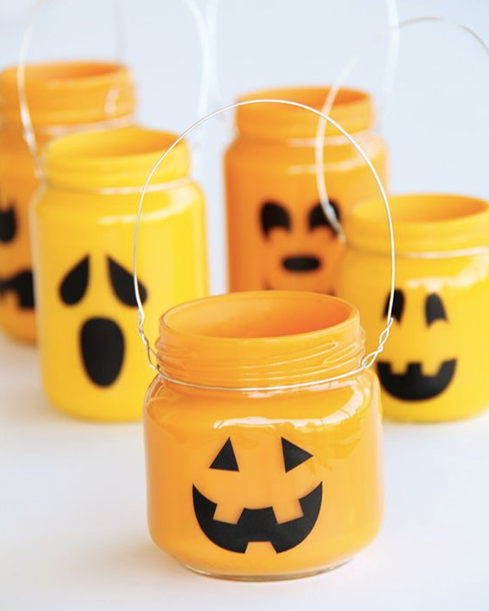 diy deco table halloween lanterne bocal