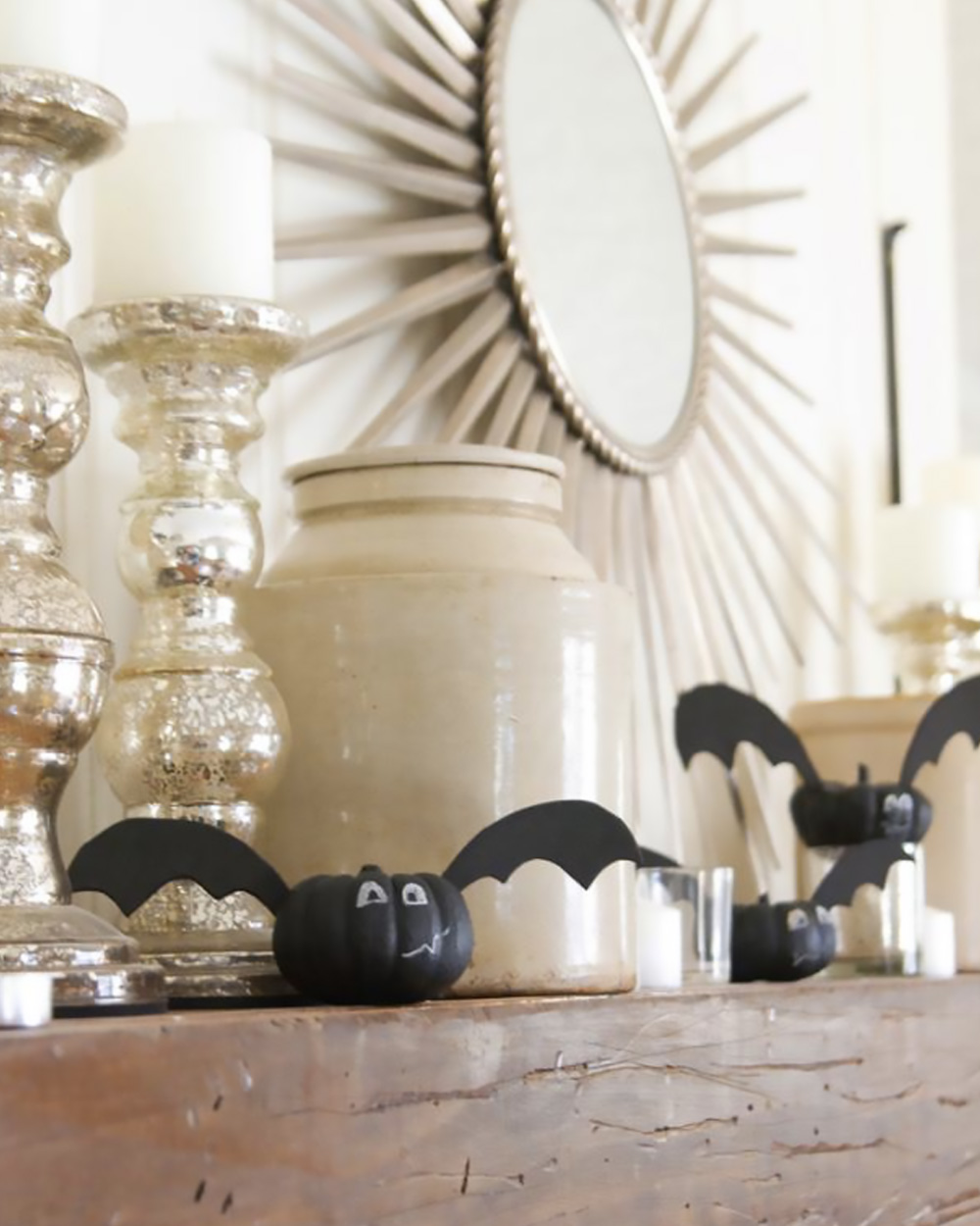 diy deco table halloween citrouille chauve souris